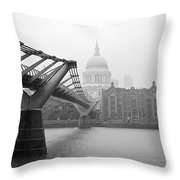 Modern And Traditional London Throw Pillow