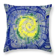 Modern Art Five Throw Pillow