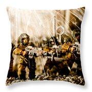 Modern Battle Field Throw Pillow