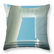 Modern Building Viewed From Below Throw Pillow