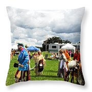 Modern Day American Indian Accent Fx  Throw Pillow