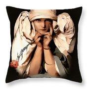 Modern Madame Throw Pillow