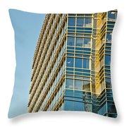 Modern Office Building Windows Throw Pillow