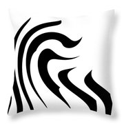 Modern Zebra  Throw Pillow