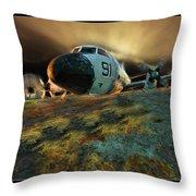 Moffett Field Landing Throw Pillow