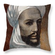 Mohammed Ahmed, Mahdi /n(1843?-1885): Wood Engraving, 1884 Throw Pillow