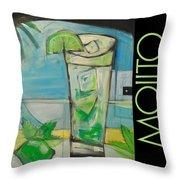 Mojito Poster Throw Pillow
