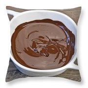 Molten Chocolate Throw Pillow