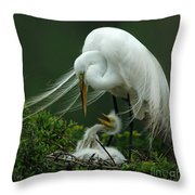 Mom And Me Throw Pillow