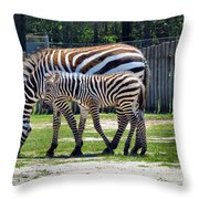 Mom N Baby Stripes Throw Pillow