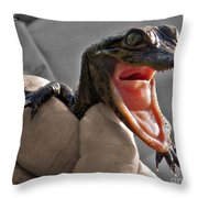 Mommy The Human Caught Me Throw Pillow