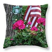 Mom's Pink Geranium  Throw Pillow
