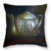 Mom's Teapot - Alice Throw Pillow