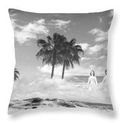 Mom's Tropical Dreams Bw Throw Pillow