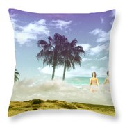 Mom's Tropical Dreams Throw Pillow