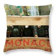 Monaco Wooden Crate Throw Pillow