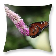 Monarch And Lavender Throw Pillow