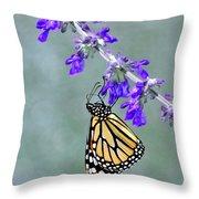 Monarch On Purple Throw Pillow