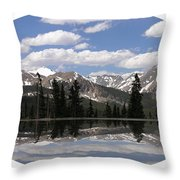 Monarch Pass Lake Throw Pillow