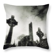 Monasterboice, Co Louth, Ireland Throw Pillow