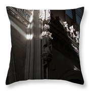 Monastery Detail In Light Throw Pillow