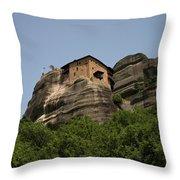 Monastery Of Saint Nicholas Anapafsas Throw Pillow