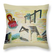 Monastery Of The Virgin Mary Throw Pillow