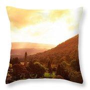Monastic Site, Glendalough, Co Wicklow Throw Pillow