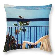 Mondello Bay Sicily Throw Pillow