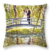 Monet Wedding Throw Pillow