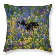 Monet's Cat Throw Pillow