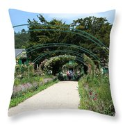 Monets Home And Garden Throw Pillow