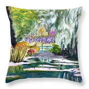 Monet's Jardin De L'eau Throw Pillow