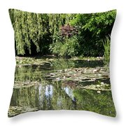 Monets Lilypond - Giverny Throw Pillow