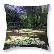 Monet's Water Garden Throw Pillow