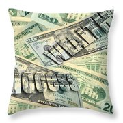 Money Wealth And Success Throw Pillow