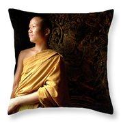 Monk Alex Laos Throw Pillow