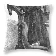 Monk Preaching Throw Pillow
