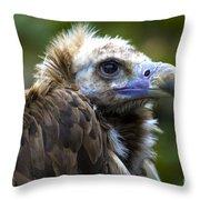 Monk Vulture Throw Pillow