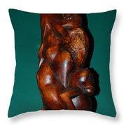 Monkey Carving Throw Pillow