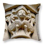Monkey Man With Birds Throw Pillow