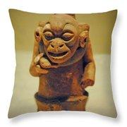 Monkey Stone Throw Pillow