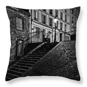 Montmartre After Dark Throw Pillow