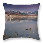 Mono Lake Panorama Throw Pillow
