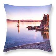 Mono Lake Sunrise Throw Pillow