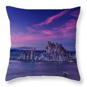 Mono Lake's Fiery Sky Throw Pillow