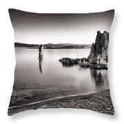 Monochromatic Mono Lake Sunrise Throw Pillow