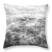 Monochrome Clouds Throw Pillow
