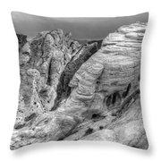 Monochrome Landscape Project 4 Throw Pillow