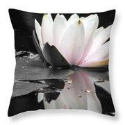 Monochrome Lily Throw Pillow